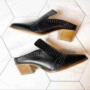Very Volatile Russo Studded Mule, size 10